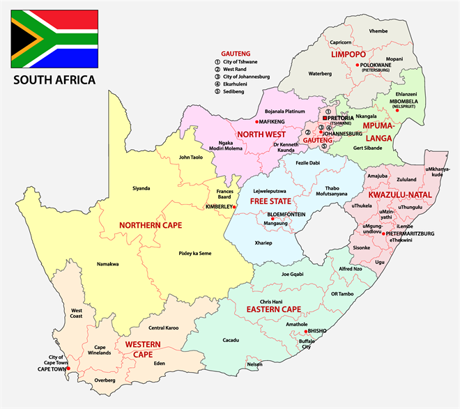 South Africa Map I Stock -860377964